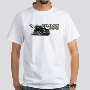 White T-Shirt / Dragon Green