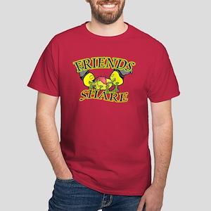 Friends Share Dark T-Shirt
