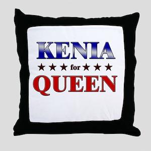 KENIA for queen Throw Pillow