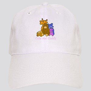 Cute and Cuddly Animals Pink Cap