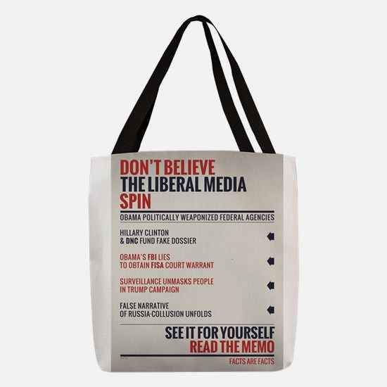 Read The Memo Polyester Tote Bag