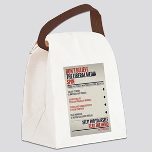 Read The Memo Canvas Lunch Bag