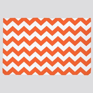 Orange Chevron 4' x 6' Rug
