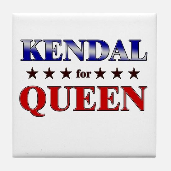 KENDAL for queen Tile Coaster
