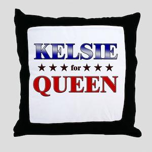 KELSIE for queen Throw Pillow