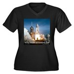 Why man invented fire Women's Plus Size V-Neck Dar