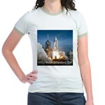 Why man invented fire Jr. Ringer T-Shirt
