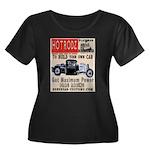 HOTRODZ Women's Plus Size Scoop Neck Dark T-Shirt