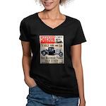 HOTRODZ Women's V-Neck Dark T-Shirt