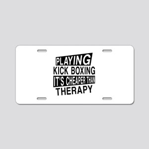 Awesome Kick Boxing Player Aluminum License Plate