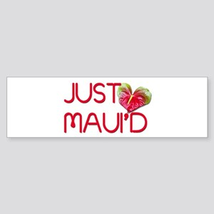 Just Maui'd Sticker (Bumper)