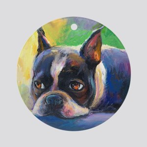 Boston Terrier Dog #11 Keepsake (Round)