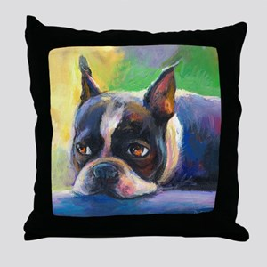 Boston Terrier Dog #11 Throw Pillow