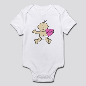 """1st valentine pink"" Infant Bodysuit"