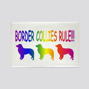 Border Collies Rectangle Magnet