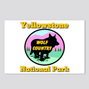 Yellowstone National Park Wol Postcards (Package o