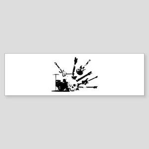 Rockin Skull explosion Bumper Sticker