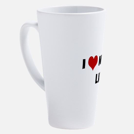 Funny I love my nurse 17 oz Latte Mug
