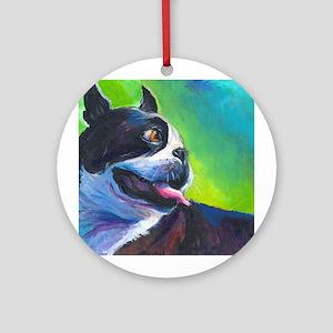 Boston Terrier Dog #12 Keepsake (Round)