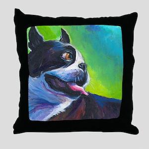 Boston Terrier Dog #12 Throw Pillow