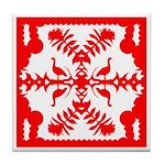 Red Nene Quilt Tile Coaster