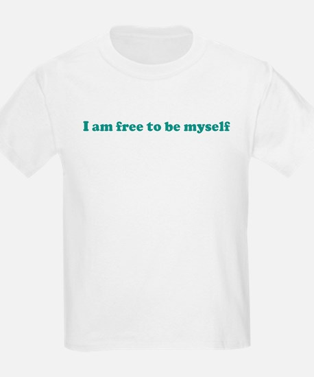 I am free to be myself (blue) T-Shirt