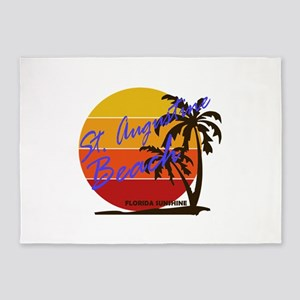 Florida - St. Augustine Beach 5'x7'Area Rug