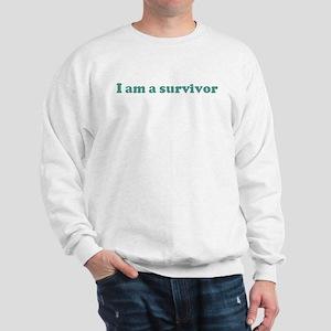 I am a survivor (blue) Sweatshirt