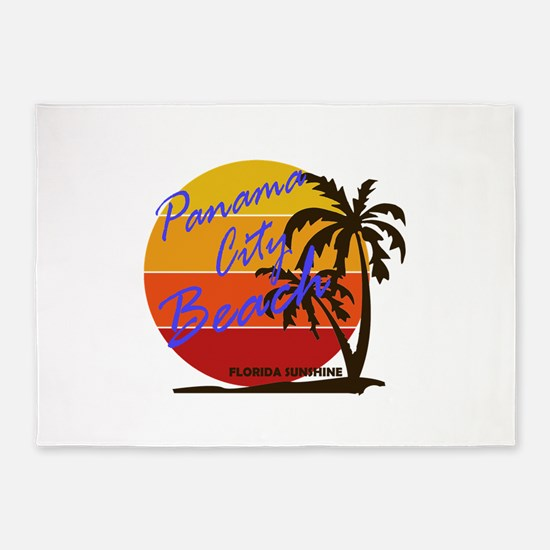 Florida - Panama City Beach 5'x7'Area Rug