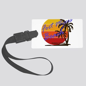 Florida - Fort Myers Beach Large Luggage Tag