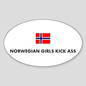 Norwegian Girls Oval Sticker