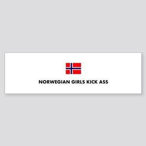 Norwegian Girls Bumper Sticker