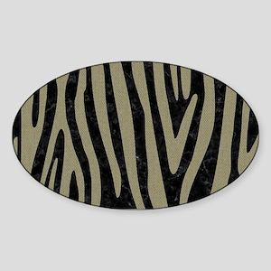 SKIN4 BLACK MARBLE & KHAKI FABRIC Sticker (Oval)
