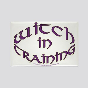 Witch in training Rectangle Magnet