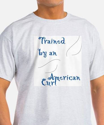 Trained by a Curl Ash Grey T-Shirt