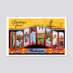 Ironwood Michigan Greetings Mini Poster Print