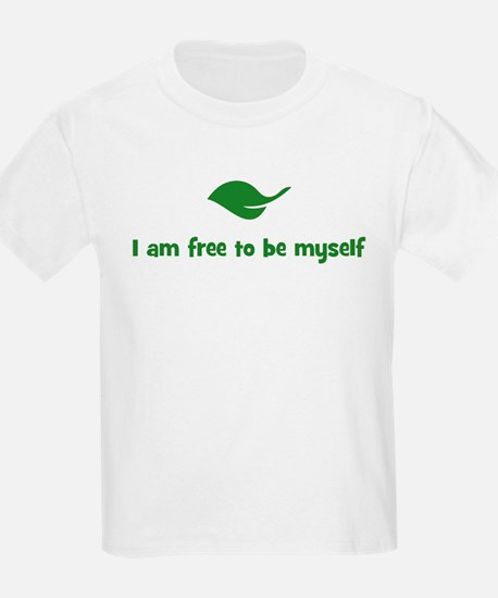 I am free to be myself (leaf) T-Shirt