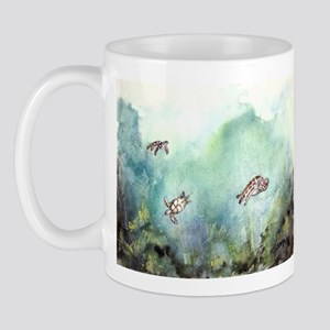 3 sea turtles turtle fine art Mug