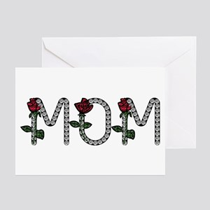 Mom - Any Name In Diamonds Greeting Cards (Package