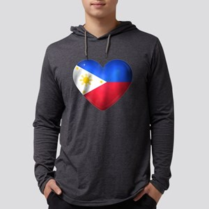 Philippines heart flag Long Sleeve T-Shirt