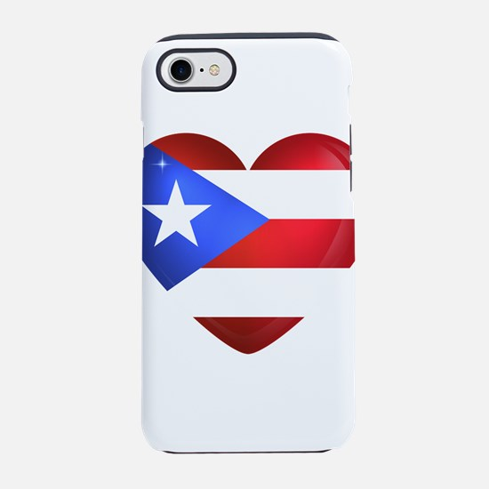 Puerto Rico flag heart iPhone 8/7 Tough Case