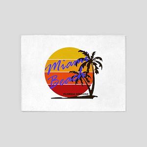 Florida - Miami Beach 5'x7'Area Rug