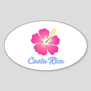 Costa Rica Flower Sticker
