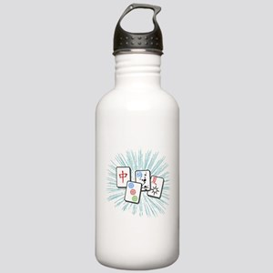 Mahjong Tile Burst Stainless Water Bottle 1.0L