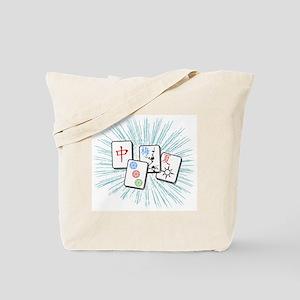 Mahjong Tile Burst Tote Bag