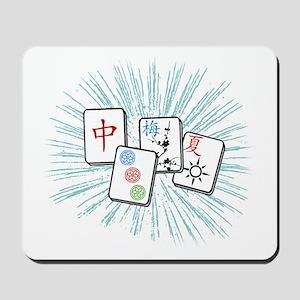 Mahjong Tile Burst Mousepad