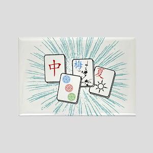 Mahjong Tile Burst Magnets