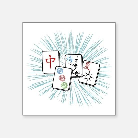 Mahjong Tile Burst Sticker