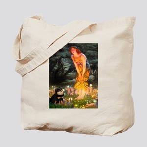Fairies / Pomeranian (b&t) Tote Bag
