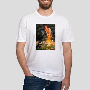 Fairies / Pomeranian (b&t) Fitted T-Shirt